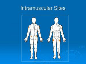 Intramuscular spots to inject testosterone