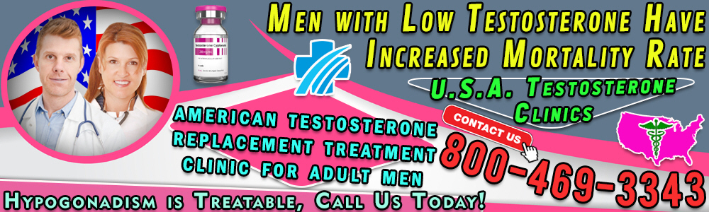 43 43 men with low testosterone have increased mortality rate
