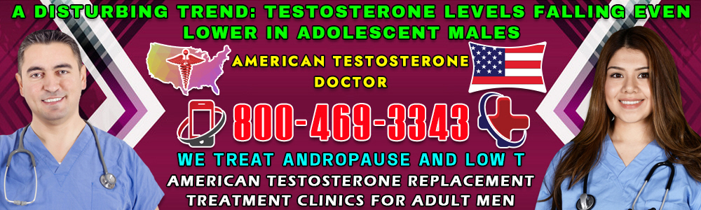 a disturbing trend testosterone levels falling even lower in adolescent males