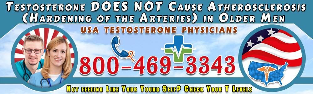 testosterone does not cause atherosclerosis hardening of the arteries in older men
