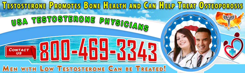 testosterone promotes bone health and can help treat osteoporosis
