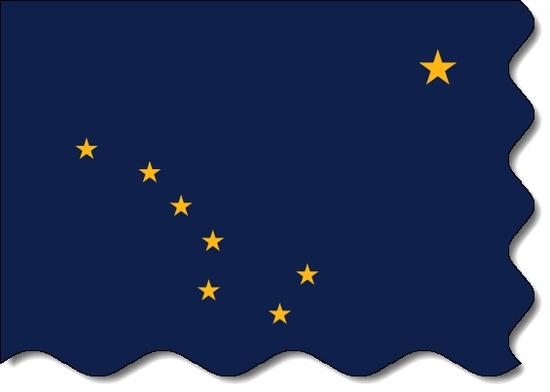 Alaska state flag, medical clinics
