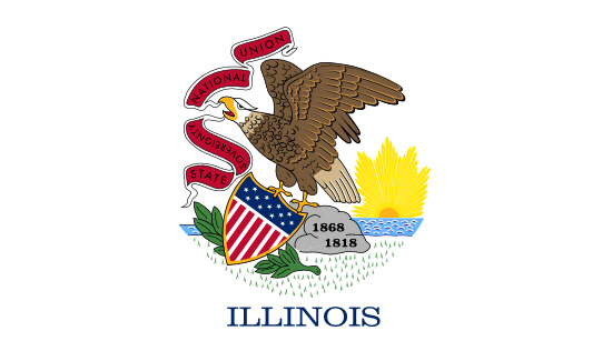 Illinois state flag, medical clinics
