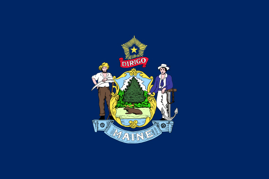 Maine state flag, medical clinics