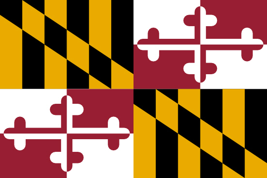 Maryland state flag, medical clinics