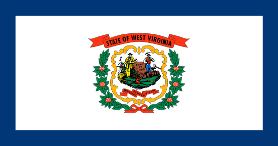 West Virginia state flag, medical clinics