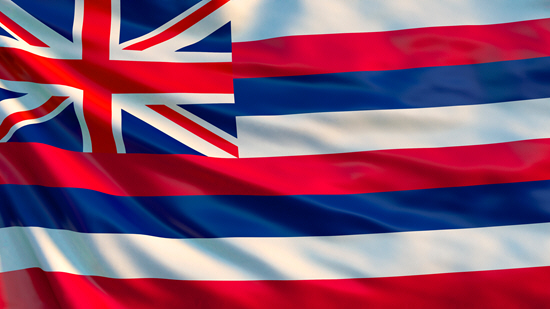 Hawaii state flag, medical clinics