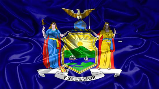 New York state flag, medical clinics