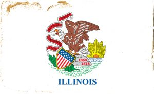 Illinois state flag 300x183