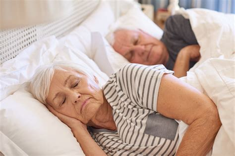 Sleeping elderly couple