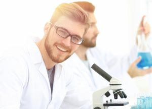 closeup a testosterone biologist working in the laboratory  300x216