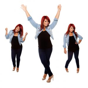 young woman proudly shows off her physique after weight loss isolated on a white background_BYCx5hYRHo 300x300