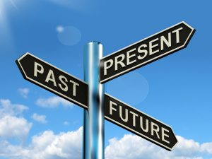 past present and future signpost showing evolution destiny or aging SBI 300166197 300x225